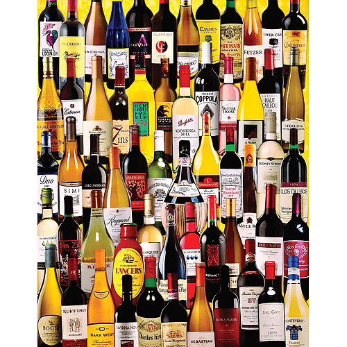 "Jigsaw Puzzle, 1000 Pieces, 24"" x 30"", Wine Bottles"