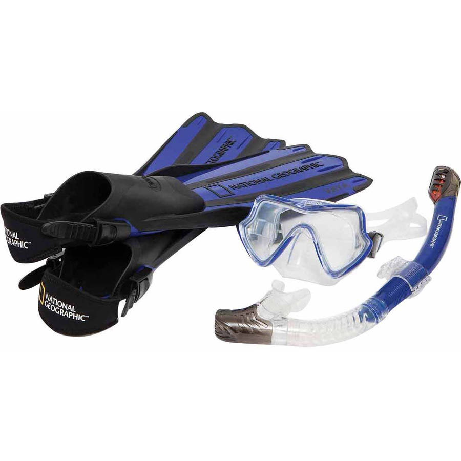 National Geographic VAYA Snorkel and Fin Set by National Geographic Snorkeler