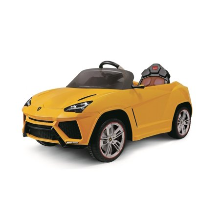 Ride On Car For Kids Licensed Lamborghini Urus 12V Redyellow With Remote Control  Led Lights  Mp3 Aux  Horn And Engine Sounds