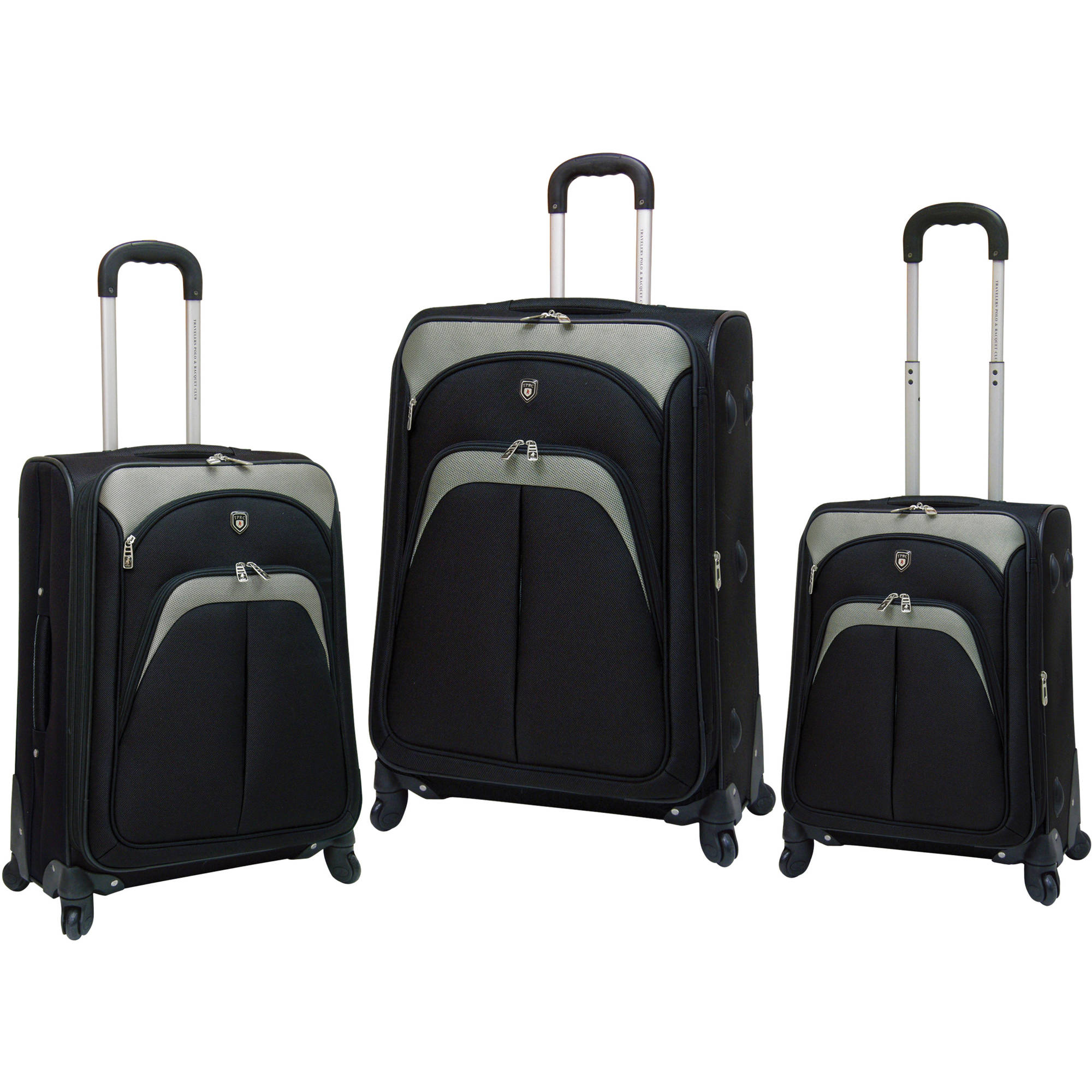 Travelers Club 3-Piece Expandable 4 Wheel Spinner Luggage Set