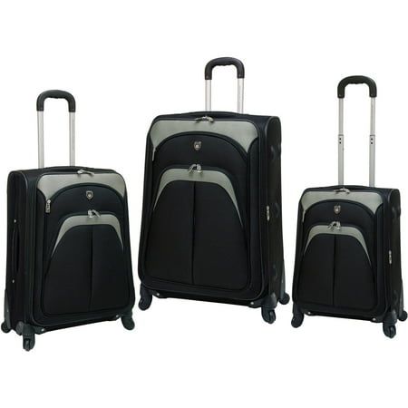 3c4a3ceeeb2a Travelers Club 3-Piece Expandable 4 Wheel Spinner Luggage Set