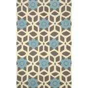Nuloom 5' x 8' Hand Hooked Jacquelyn Area Rug in Blue