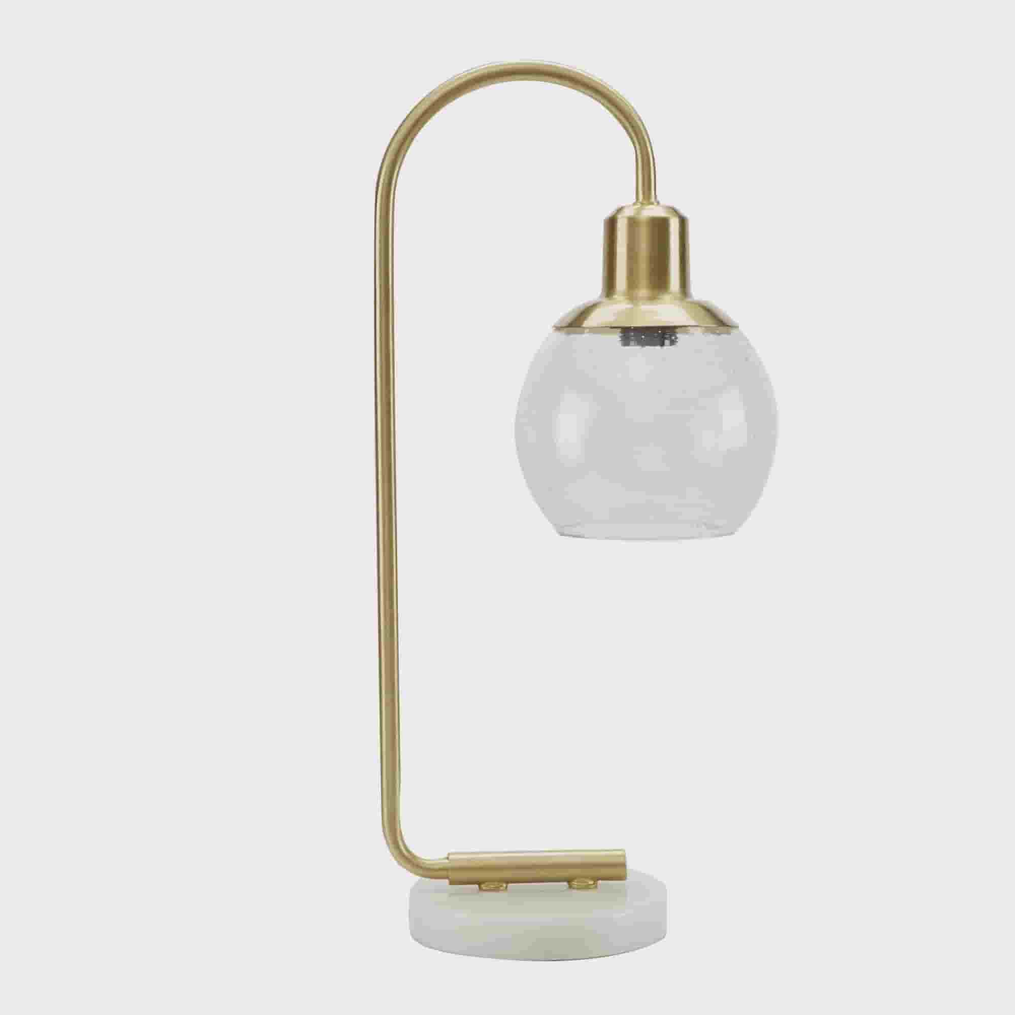 Picture of: Better Homes Gardens Real Marble Table Lamp Brushed Brass Finish Walmart Com Walmart Com