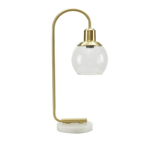 Better Homes & Gardens Marble Base Table Lamp, Brushed Brass (Maple Base)