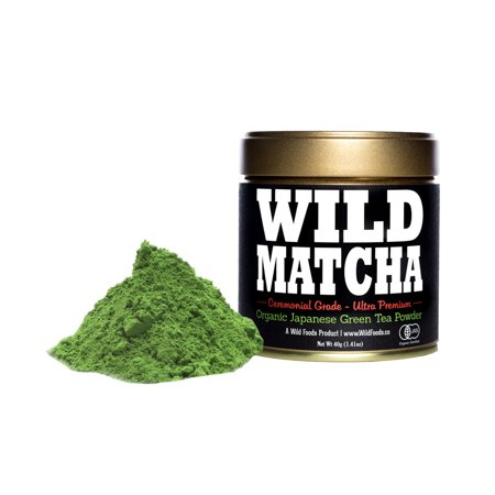 Wild Foods, Matcha #2 Ceremonial Grade, First Harvest, 40g (Halloween Poem 1st Grade)