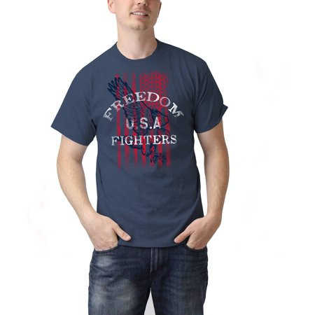 Usa Freedom Fighters Americana Mens Graphic Tee Shirt