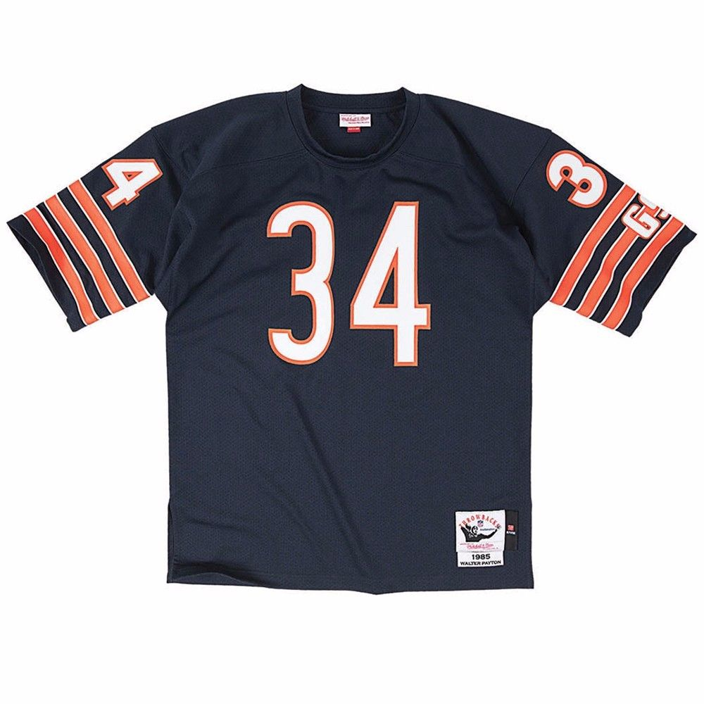 Walter Payton Chicago Bears NFL Mitchell & Ness Men's Navy Blue Authentic Throwback Home Jersey