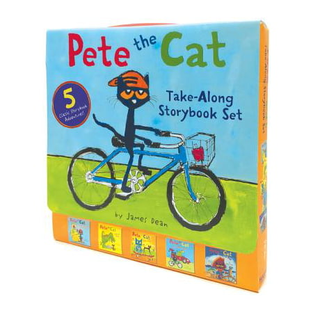 Pete the Cat Take-Along Storybook Set : 5-Book 8x8 (Harper Collins Pete The Cat Saves Christmas)