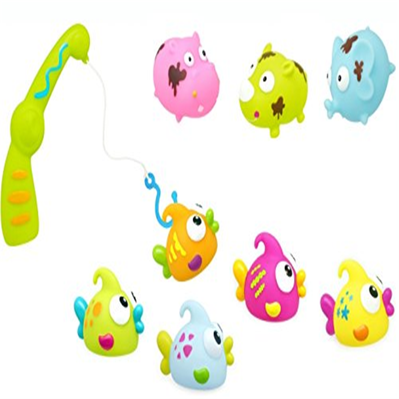 Nowali 2493 Konfetti Bath Toys Fishing and Dirty Animals, Set of 9 by Nowali