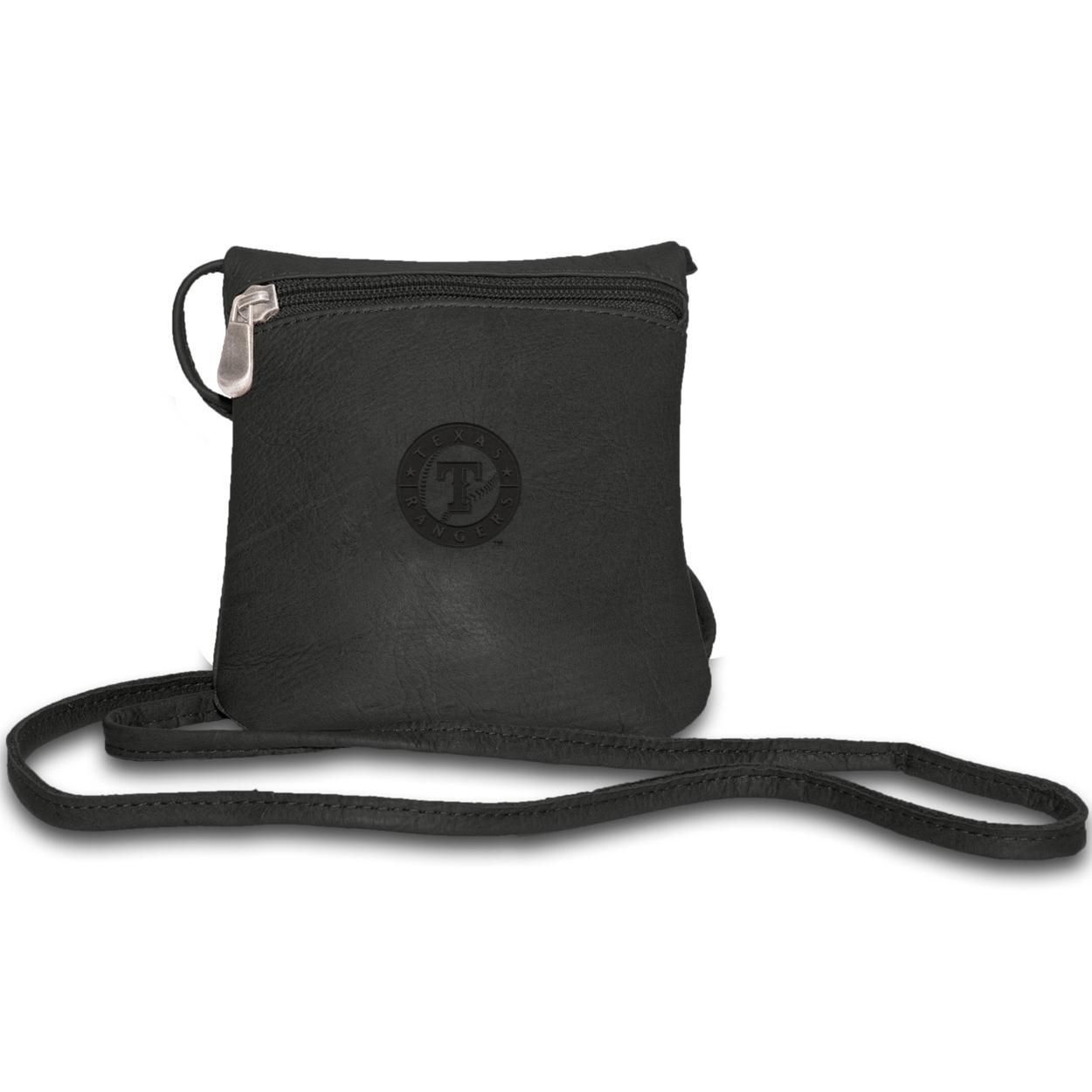 Pangea Black Leather Women's Mini Bag - Texas Rangers Texas Rangers PANGBBTEXWMB
