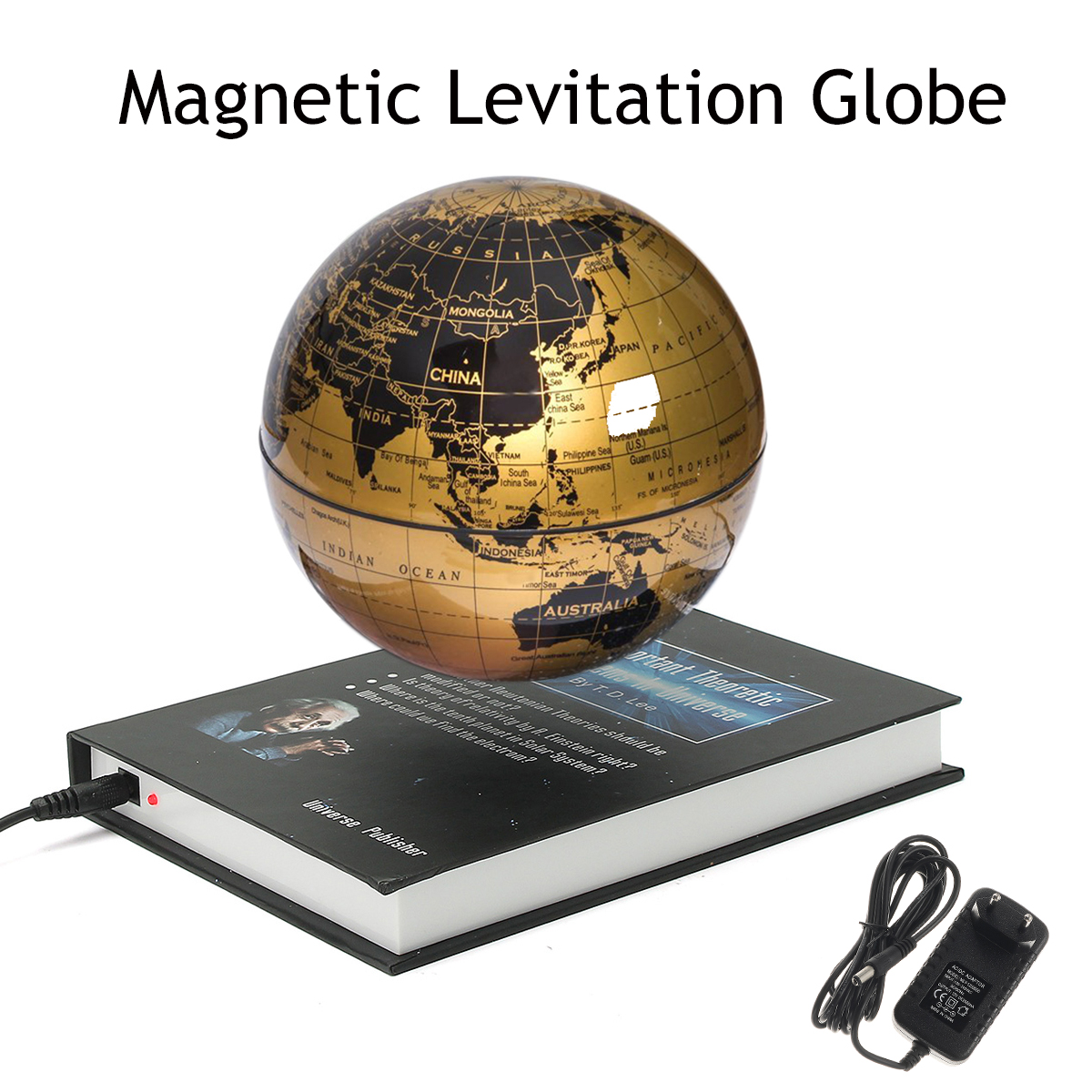 "6"" inches Rotating Magnetic Levitation Globe World Globe Floating Levitating Earth Gift Hobbies Learning Toys Tool Geographical Knowledge With Bookcase Xmas Gift"