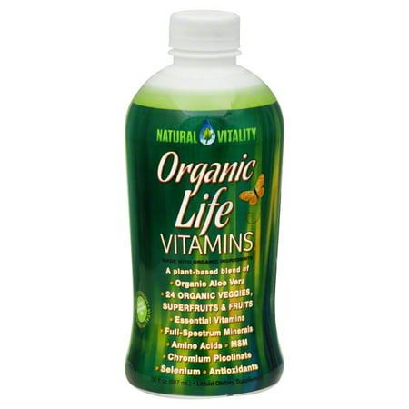 Natures Gate Organics Liquid - Natural Vitality Organic Life Vitamins Liquid, 30 fl oz