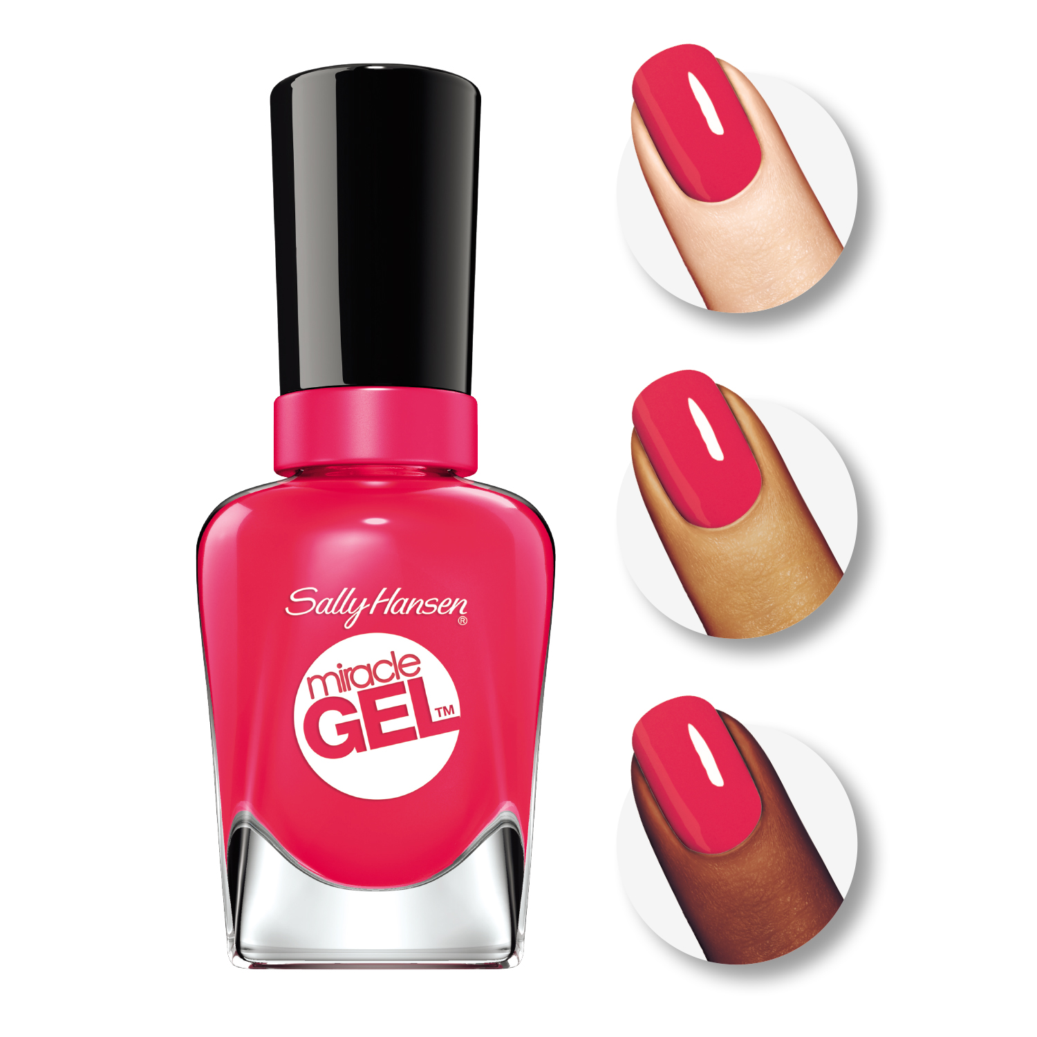 Sally Hansen Miracle Gel Nail Polish, Wine Stock