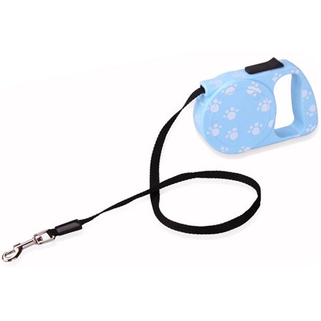 Plastic Retractable Leash (Blue Small Pet Dog Cat Retractable Automatic Leash Walking Running)