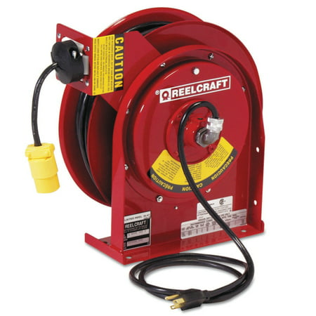 Power Cord Receptacles (Heavy Duty Power Cord Reels, 12/3 AWG, 15 A, 45 ft, Single Receptacle )