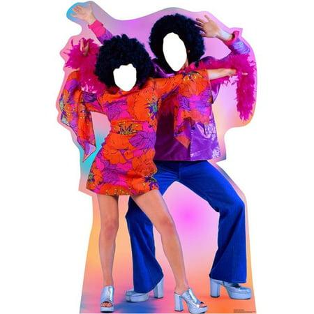 71 x 46 in. 70s Dance Couple Standin Cardboard Standup