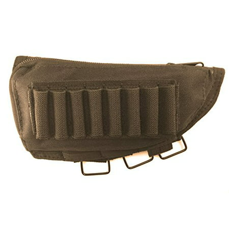 Acme Approved Rifle Buttstock Cheek Rest Ammo Pouch - Black thumbnail
