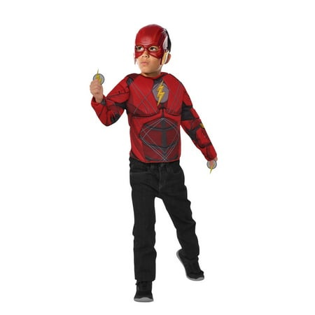 The Flash Halloween Costume Set W/ Flip N' Reveal Lightning Bolts