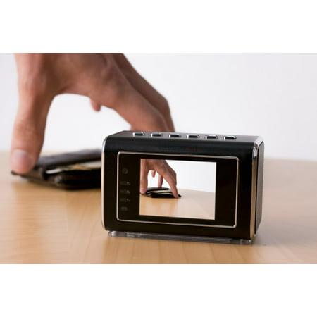 Mini Desk Clock Discrete Nanny Camera IR Night Vision Video Recorder - image 4 of 7