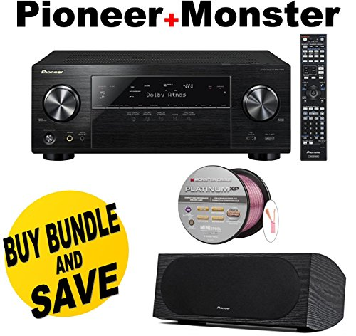 Pioneer VSX-1130-K 7.2-Channel AV Receiver with Built-In Bluetooth and Wi-Fi (Black) + Pioneer SP-C22 Andrew Jones