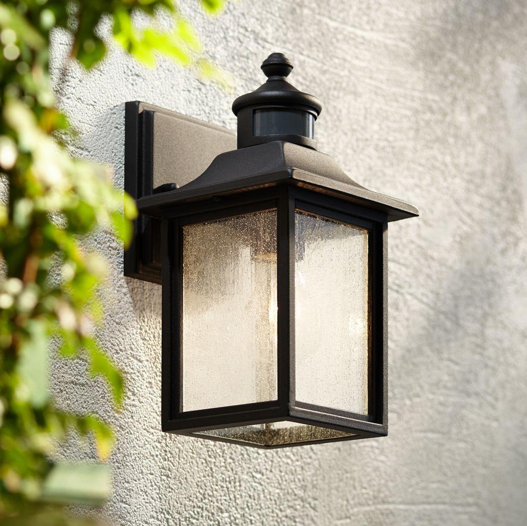 Image of: Deaver 15 1 4 High Bronze Motion Sensor Outdoor Wall Light Patio Lawn Garden Outdoor Decor