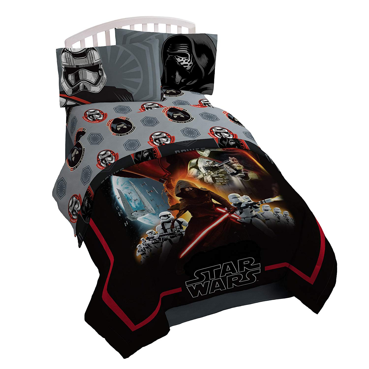 Star Wars Ep7 Photoreal Reversible Comforter, Single