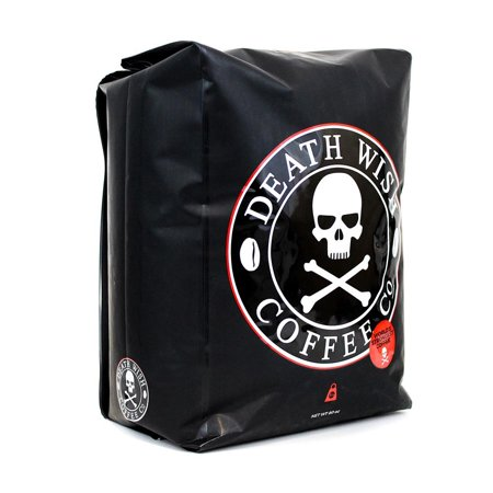 Death Wish Coffee Company Organic Fair Trade Strong Ground Coffee, 5 Lb Organic Fair Trade