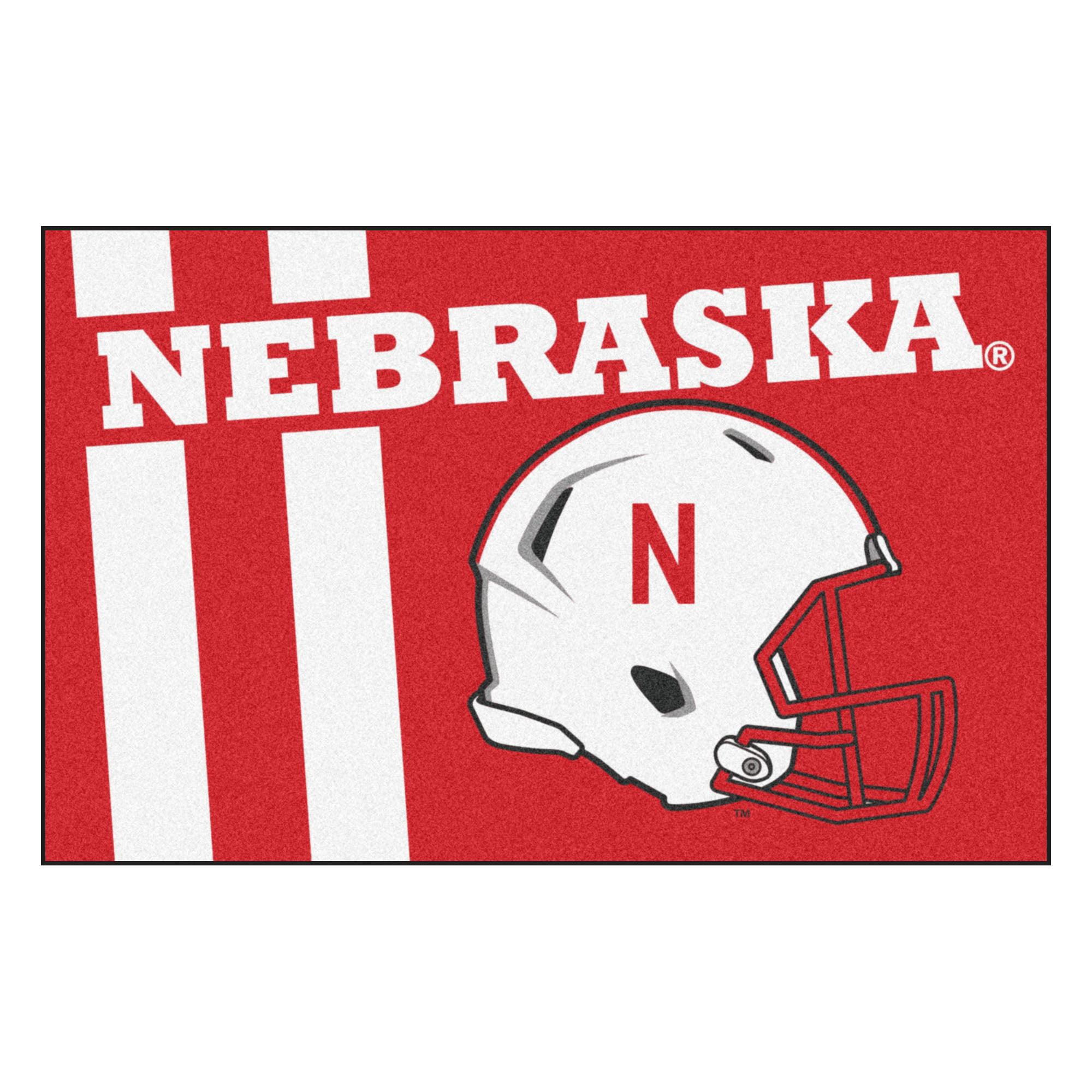 "Nebraska Uniform Starter Rug 19""x30"""