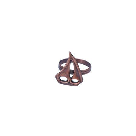 Antique Copper Sailboat Napkin Ring 2