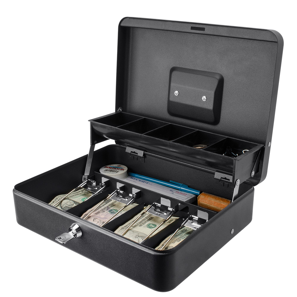 12 inch Standard Register Style Cash Box with Key Lock by Winbest