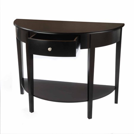 Bay S Collection Large Half Moon Round Hall Table With Drawer Multiple Colors