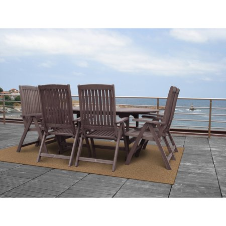 Garland Artificial Grass Brown Indoor & Outdoor Area Rug 4' x 6' ()