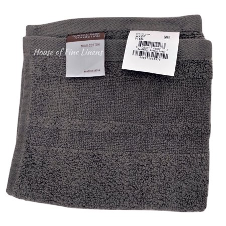 Hudson Park Signature Steel Gray Washcloth 13