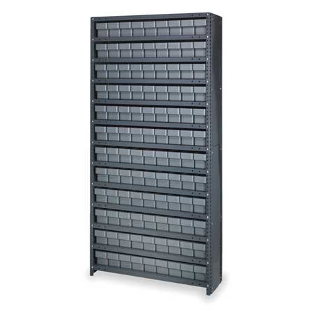 QUANTUM STORAGE SYSTEMS CL1275-501GY Bin Shelving Unit, With (108) 2KWB1 Bins