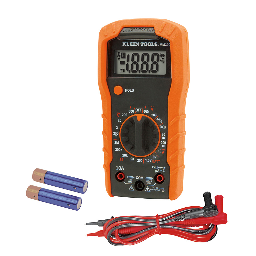 Klein Tools MM300 600V 2M Ohm Manual-Ranging Digital Multimeter