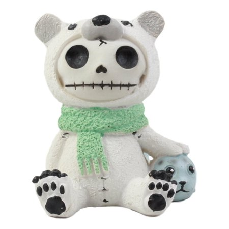 Furry Monster (Ebros Furry Bones Arctic Polar Bear Chilton With Baby Seal Costume Skeleton Monster Collectible Figurine)