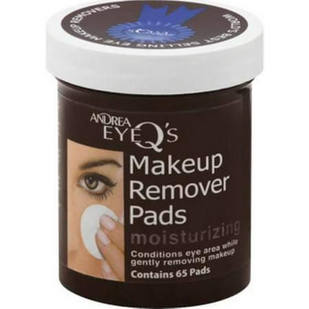 - 4 Pack - Andrea Eye Q's Eye Make-Up Remover Pads Moisturizing 65 Each