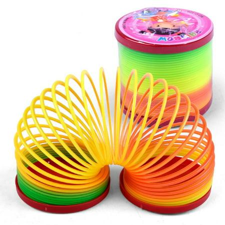 Magic Plastic Slinky Rainbow Spring Colorful Children Funny ClassicToy Colors Randomly
