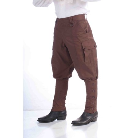 Forum Novelties Steampunk Jodhpur-Style Pants, Brown - One Size