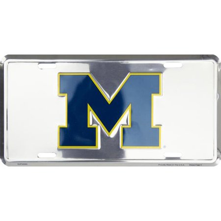 - Michigan Wolverines Deluxe Silver Novelty License Plate by Hangtime