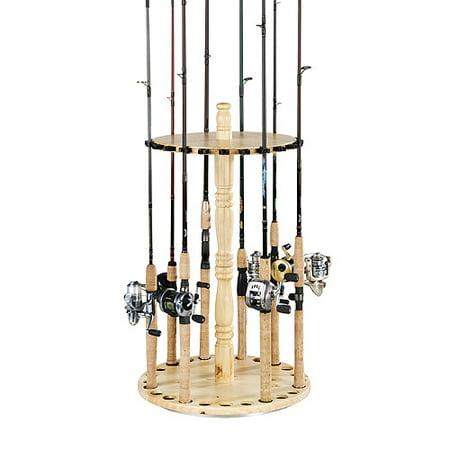 Organized fishing spinning rod holder for Fishing rod holders walmart