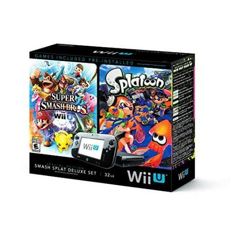 Refurbished Wii U Super Smash Bros And Splatoon Bundle Special Edition Deluxe