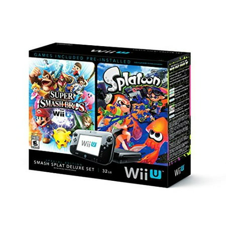 Refurbished Wii U Super Smash Bros And Splatoon Bundle Special Edition Deluxe (Super Smash Bros Brawl 2 Wii U)