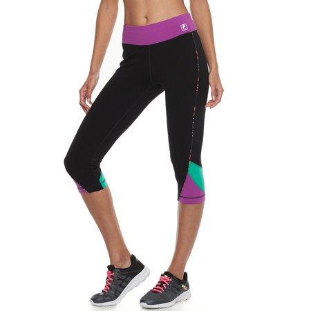 b3d883a1854b Women's FILA SPORT® Colorblocked Capri Leggings - Walmart.com
