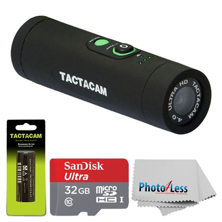 Tactacam 4.0 w Custom Gun Mount + Rechargeable Battery +