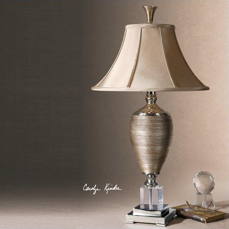 Uttermost Abriella Textured Porcelain Table Lamp in Metallic Gold - image 2 de 2