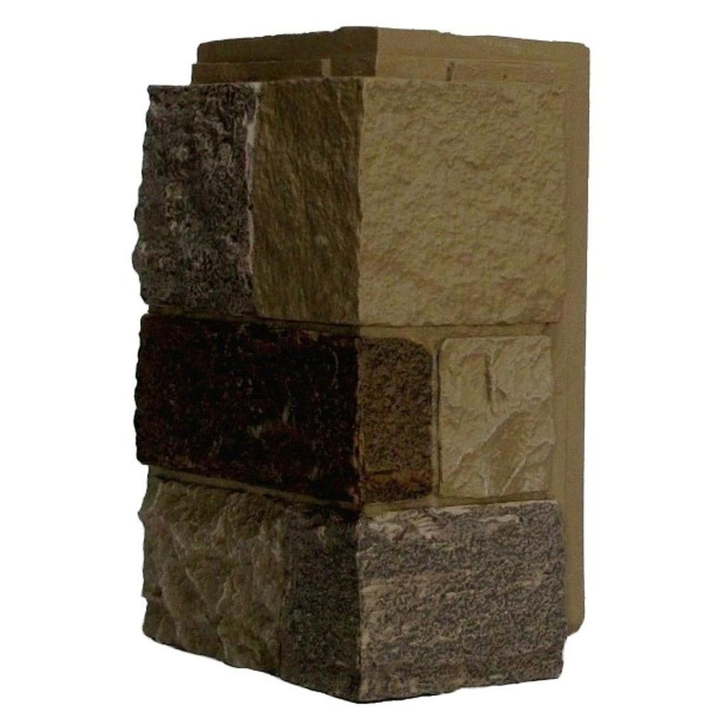 NextStone™ Faux Polyurethane Stone Outside Corner - Castle Rock Windsor Buff