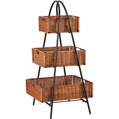 Excellent Rattan 3-Tier Basket Stand - Walmart.com CZ59