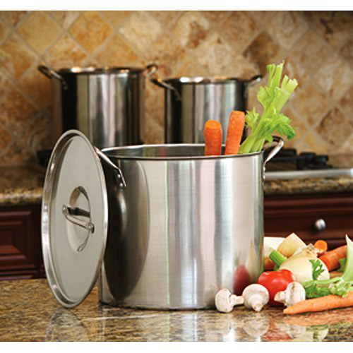 Cook Pro 8, 12 and 16-Quart Stock Pot Set with Lids, Stainless Steel
