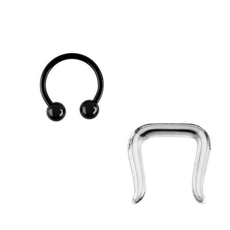 Anodized Barbell - Anodized Circular Barbell Jewelry And Septum Retainer and 14G 3/8